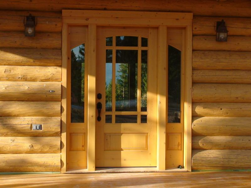 Rustic pine, continous arch, raised panels