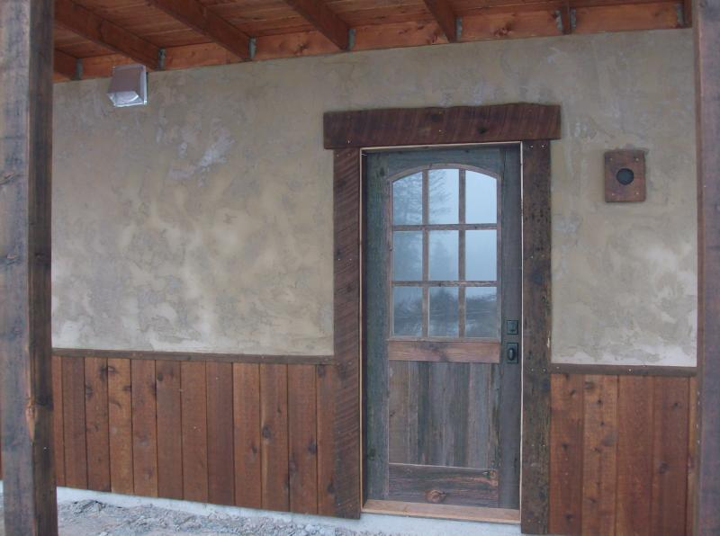 Natural grey barnwood, arch top rail, six light